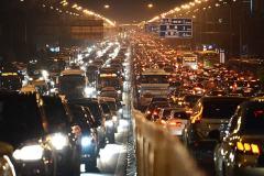 拥堵的北京交通
