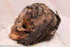 埃及出土3千年前女尸:颅骨盘绕70股接发(图)
