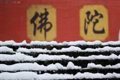 雪中显通寺