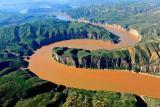 航拍——黄河流过准格尔