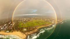 澳大利亚天空惊现罕见全圆形彩虹美不胜收