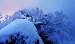 七星峰冬雪 踏寻先烈足迹