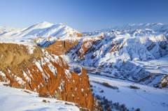 新疆努尔加大峡谷冬季风光