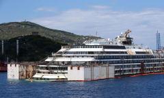 意大利豪华邮轮触礁沉没2年后内景曝光
