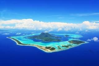 大溪地波拉波拉岛航拍