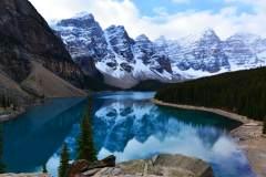 落基山脉的湖光山色