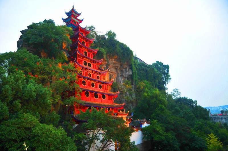 寨山相依                           拍摄地点:重庆--忠县石宝寨
